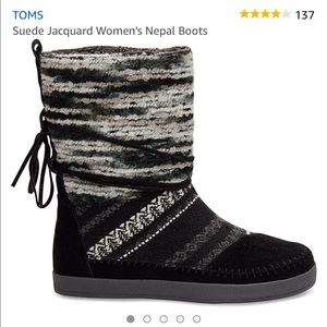 TOMS Suede Jacquard Nepal Boot